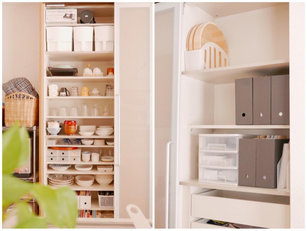キッチン食器棚の収納after