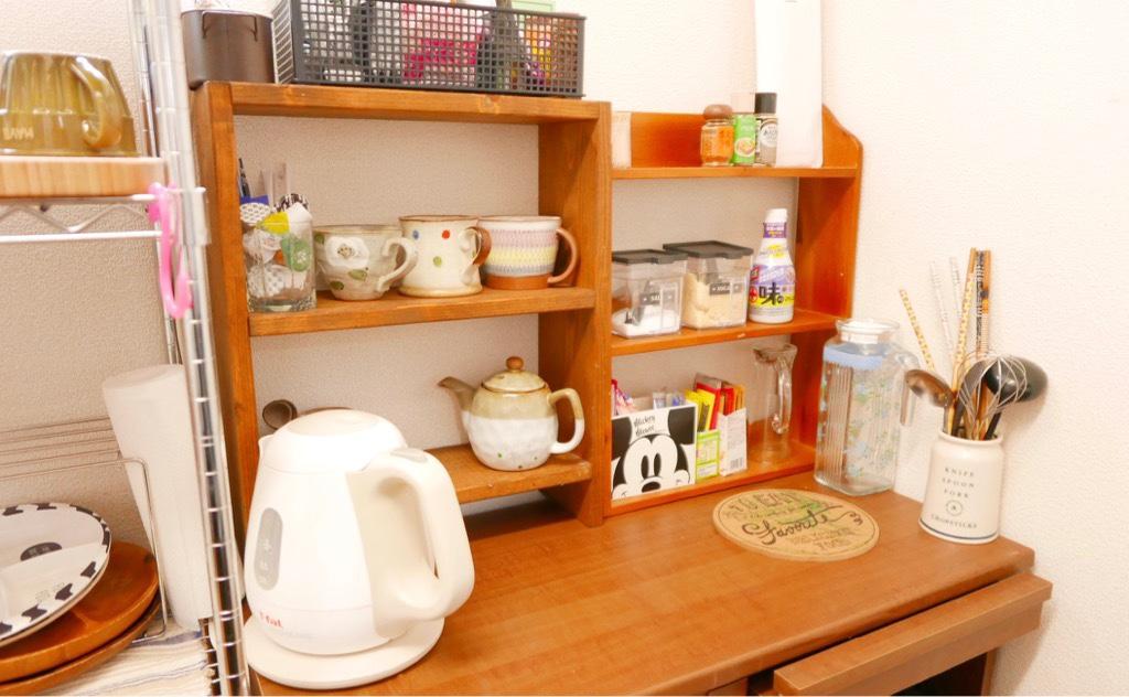 キッチンお茶コーナー