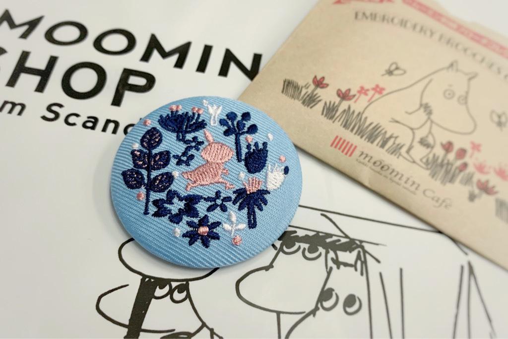 ムーミン刺繍ブローチ